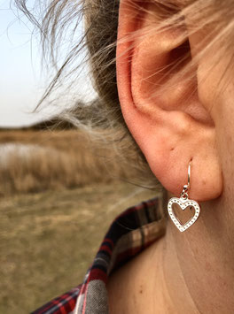 Herz Ohrhänger Pünktchen