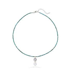 Türkis Collier mit Perle