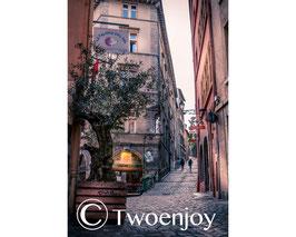 Rue pavé vieux Lyon