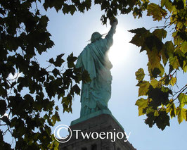 Statue de la liberté de dos