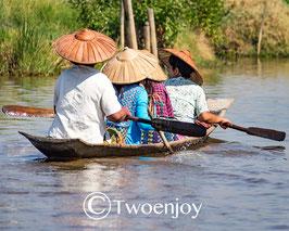 Pirogue lac Inlé Birmanie