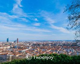 Vue panoramique de la ville de Lyon