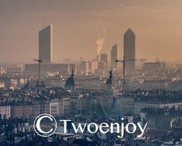 Lyon sous la brume