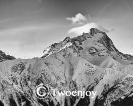 2 Alpes noir et blanc