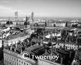 Vue de Lyon en noir et blanc