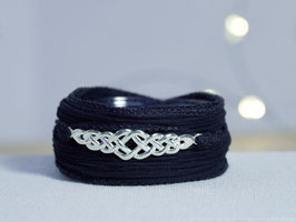 Seidenarmband keltisches Muster, länglich