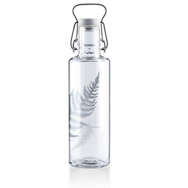 Tinkflasche Soulbottle 0,6l Silberfarn