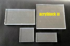 Acrylblock III, 100 x 110 mm