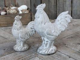 Hühnerpaar aus Beton