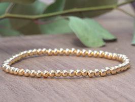 Elastikarmband Hämatit vergoldet