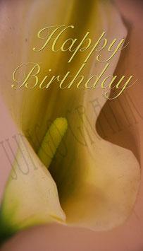 Weinetikette Geburtstag Blume 4