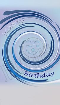 Weinetikette Geburtstag Smiley