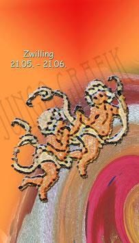 Weinetikette Sternzeichen Zwilling/Serie 2