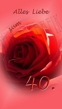 Weinetikette 40. Geburtstag