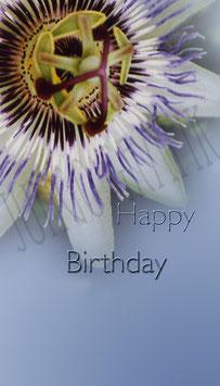 Weinetikette Geburtstag Blume 5
