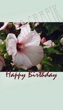 Weinetikette Geburtstag Blume 3