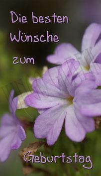 Weinetikette Geburtstag Blume 1