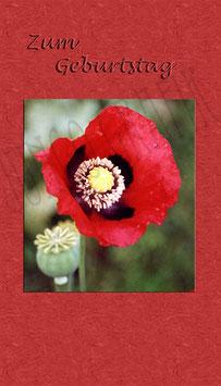 Weinetikette Geburtstag Blume 6