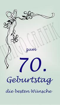 Weinetikette 70. Geburtstag Rose