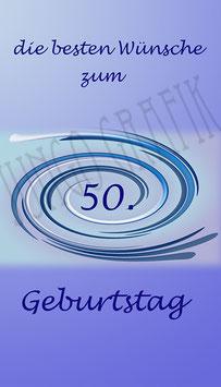 Weinetikette 50. Geburtstag