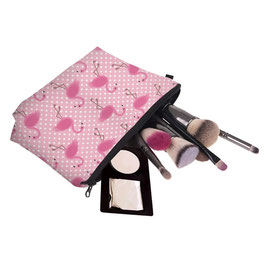 Pochette maquillage flamant rose