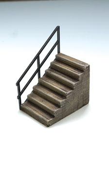 Treppe mit Geländer  Spur 1  1:32 koloriert, bemalt , gealtert