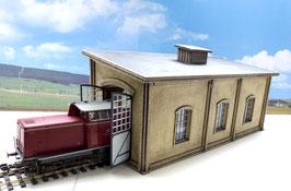 Lokschuppen einzel für Dampf u. Dieselloks Spur 1  1:32 koloriert, bemalt , gealtert