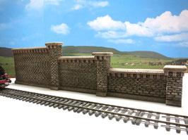 Stufenmauer Rotstein mit Pfeilern  6 Teilig Spur 0  1:45 koloriert bemalt gealtert