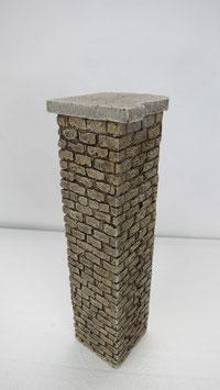 """Abschlußpfeiler """"links"""" für Arkaden Stützmauern  Spur 1 1:32 koloriert bemalt gealtert"""