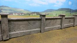 3 Betonmauern Spur 1 1:32 koloriert bemalt gealtert