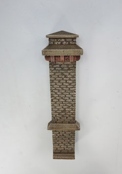 Turmpfeiler  Rotstein   Spur 1  1:32 koloriert, bemalt , gealtert