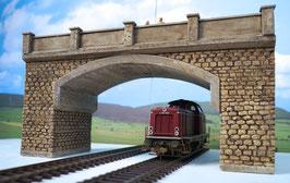 Große Bogenbrücke  Spur 0  1:45 koloriert bemalt gealtert