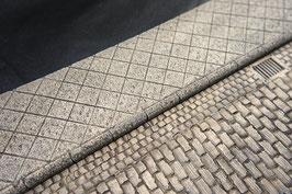 Gehweg für Pflasterstraße  Maßstab 1  1:16 koloriert, bemalt , gealtert