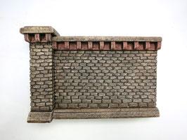 Stufenmauer Segment mittel  Rotstein 2 Teilig   Spur 1  1:32 koloriert, bemalt , gealtert