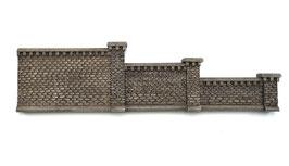 Stufenmauer Rotstein Farbvariante mit Pfeilern  6 Teilig Spur 0  1:45 koloriert bemalt gealtert