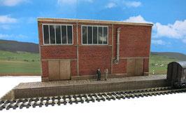 Zucker Fabrik Relief mit  Rampe Spur 0  1:45 koloriert bemalt gealtert