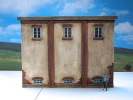 Genossenschafts Gebäude Seitenfront Spur 1  1:32 koloriert, bemalt , gealtert