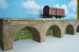 Große Viaduktbrücke für Spur 0 1:45 koloriert bemalt gealtert gebaut