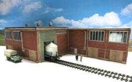 Zucker Fabrik Einfahrt Rechts  Spur 0  1:45 koloriert bemalt gealtert