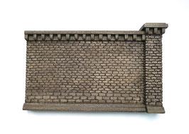 Stufenmauer Segment groß Farbvariante Rotstein 2 Teilig   Spur 1  1:32 koloriert, bemalt , gealtert