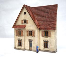 Wohnhaus Eckhaus  Spur 0  1:45 koloriert bemalt gealtert
