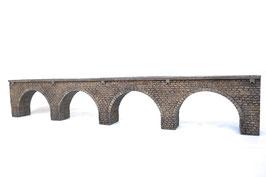 Große Viaduktbrücke für Spur 0m    (Meterspur )  1:45 koloriert bemalt gealtert