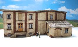 Relief Genossenschafts Gebäude mit Schuppen  Spur 0  1:45 koloriert bemalt gealtert
