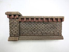 Stufenmauer Segment klein Rotstein 2 Teilig   Spur 1  1:32 koloriert, bemalt , gealtert