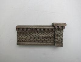 """Mauer Rotstein """"klein"""" mit Pfeiler  2Teilig Spur 0  1:45 koloriert bemalt gealtert"""