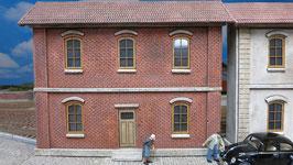 Wohnhaus Ziegelfassade Spur 1  1:32 bemalt gealtert