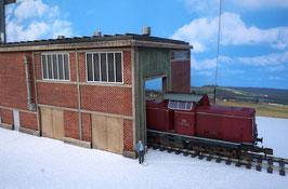 Zucker Fabrik  Gebäude Einfahrt Rechts Links  Spur 1  1:32 koloriert, bemalt , gealtert