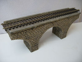 Viaduktbrücke für Spur 0 1:45 koloriert bemalt gealtert gebaut