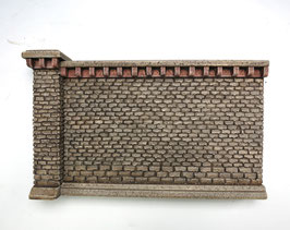 Stufenmauer Segment groß  Rotstein 2 Teilig   Spur 1  1:32 koloriert, bemalt , gealtert