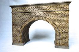Tunnelportal 2 Gleisig  mit Röhre Spur 1  1:32 koloriert , gealtert